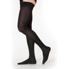 Sigvaris Cotton Men's 30-40 mmHg Thigh High, Black