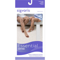 Sigvaris Cotton 30-40 mmHg OPEN TOE Thigh High