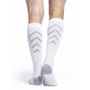 Sigvaris Athletic Recovery Socks 15-20 mmHg Knee High, White