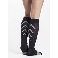 Sigvaris Athletic Recovery Socks 15-20 mmHg Knee High, Black