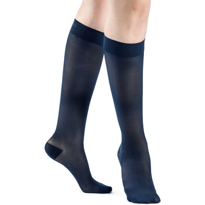 Sigvaris Sheer Women's 20-30 mmHg Knee High, Dark Navy