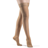 Sigvaris Sheer Women's 15-20 mmHg Thigh High, Suntan