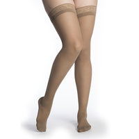 Sigvaris Sheer Women's 15-20 mmHg Thigh High, Café