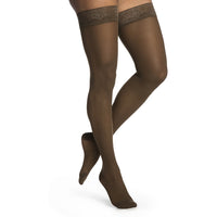 Sigvaris Sheer Women's 15-20 mmHg Thigh High, Mocha