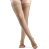 Sigvaris Sheer Women's 30-40 mmHg OPEN TOE Thigh High, Natural