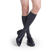 Sigvaris Microfiber Men's 20-30 mmHg Knee High, Steel Grey