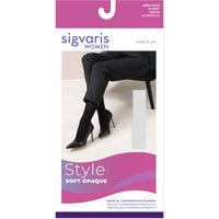 Sigvaris Soft Opaque Women's 20-30 mmHg Knee High w/ Silicone Top Band