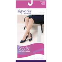 Sigvaris Soft Opaque Women's 15-20 mmHg OPEN TOE Thigh High