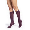 Sigvaris Soft Opaque Women's 15-20 mmHg Knee High, Mulberry