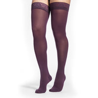 Sigvaris Soft Opaque Women's 15-20 mmHg Thigh High, Mulberry