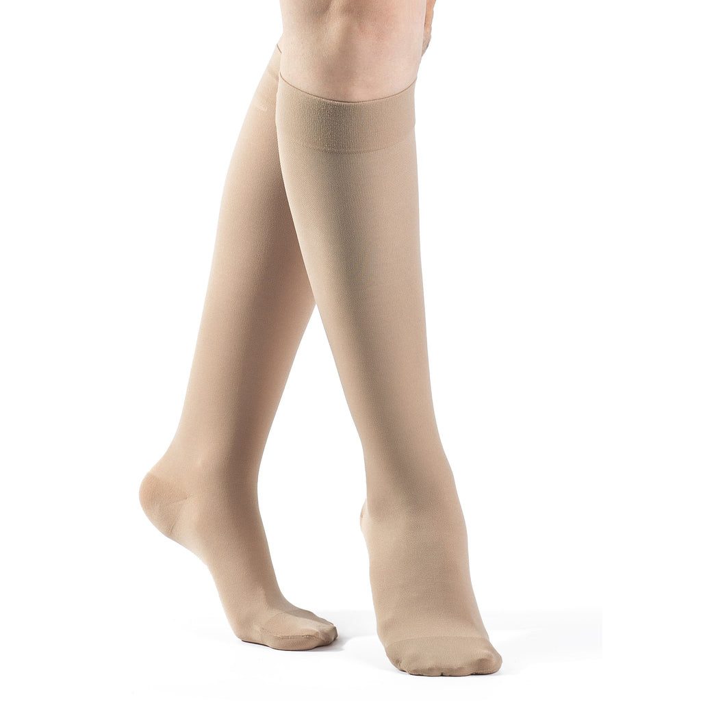 Sigvaris Opaque Women's 20-30 mmHg Knee High, Natural