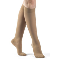 Sigvaris Opaque Women's 20-30 mmHg Knee High, Suntan