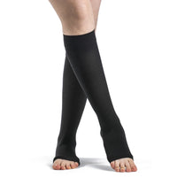 Sigvaris Opaque 30-40 mmHg OPEN TOE Knee High, Black