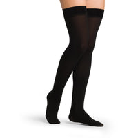 Sigvaris Opaque Women's 30-40 mmHg Thigh High, Black