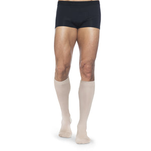 Dynaven Men's 15-20 mmHg Knee High, Light Crispa (Beige)