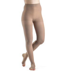 Dynaven 20-30 mmHg OPEN TOE Pantyhose, Light Beige (Crispa)