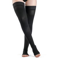 Dynaven 30-40 mmHg OPEN TOE Thigh High, Black