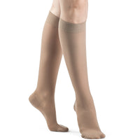 Dynaven Women's 15-20 mmHg Knee High, Light Beige (Crispa)