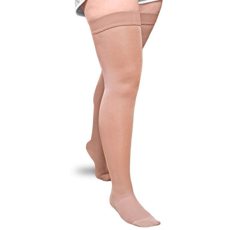 Solaris ExoSoft Thigh High 15-20mmHg with Silicone Top, Beige