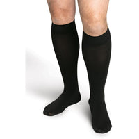 Sigvaris Secure Men's 40-50 mmHg Knee High, Black