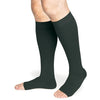 Sigvaris Secure 20-30 mmHg OPEN TOE Knee High, Black