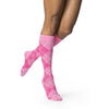 Sigvaris Microfiber Patterns Women's 20-30 mmHg Knee High, Pink Argyle