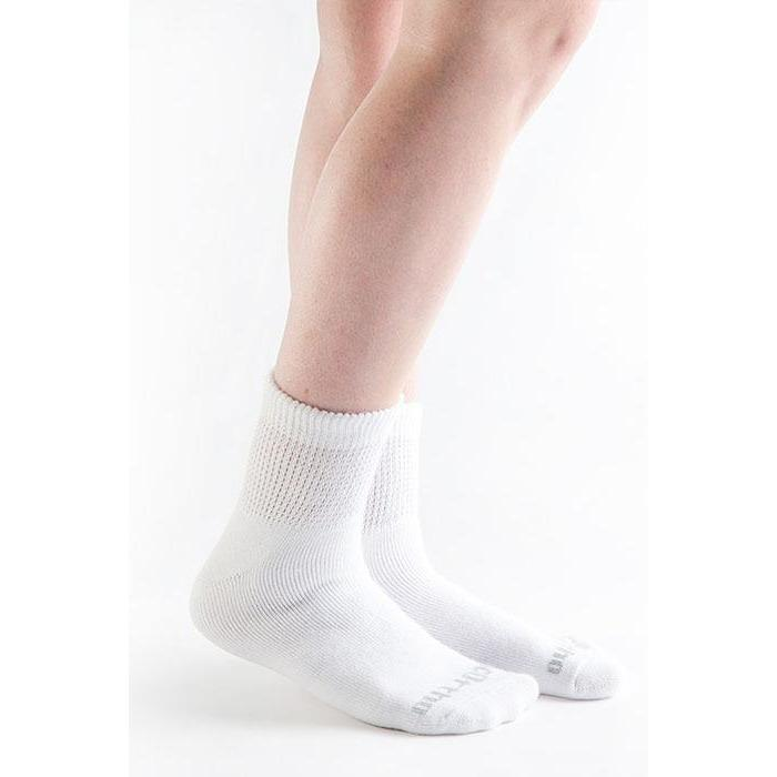 Doc Ortho Ultra Soft Loose Fit Diabetic 1/4 Crew Socks, 3 pairs