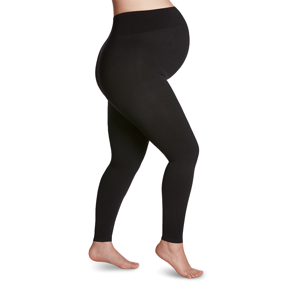 Sigvaris Soft Silhouette Women's 15-20 mmHg Maternity Leggings, Black