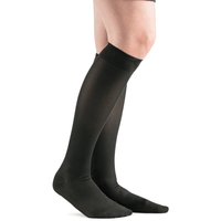 Actifi 20-30 Surgical Opaque Knee High Stockings, Black