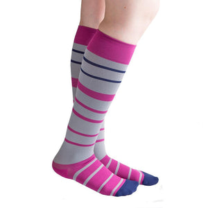 VenaCouture Women's Bold Barcode 15-20 mmHg Compression Sock