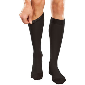 Therafirm Ease Opaque 30-40 mmHg Knee High w/ Silicone Top Band