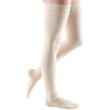 Mediven Comfort 20-30 mmHg Thigh High w/ Lace Silicone Top Band, Wheat