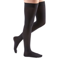 Mediven Comfort 15-20 mmHg Thigh High w/ Silicone Beaded Top Band, Ebony
