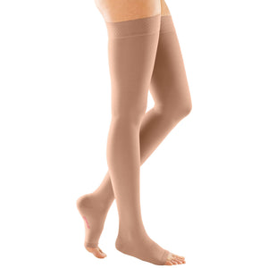 Mediven Forte 30-40 mmHg OPEN TOE Thigh High w/ Silicone Top Band