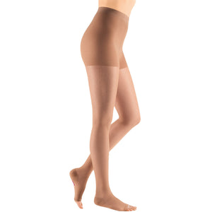 Mediven Sheer & Soft Women's 15-20 mmHg OPEN TOE Pantyhose, Natural