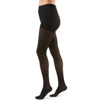 Duomed Transparent Women's 20-30 mmHg Waist High, Black