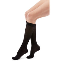Duomed Transparent Women's 20-30 mmHg Knee High, Black