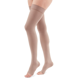 Duomed Advantage 15-20 mmHg OPEN TOE Thigh High, Beige