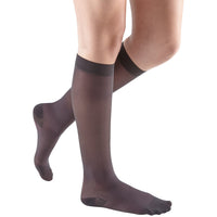 Mediven Sheer & Soft Women's 15-20 mmHg Knee High, Charcoal