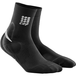 CEP Compression Men's Ankle Support Short Socks, Black