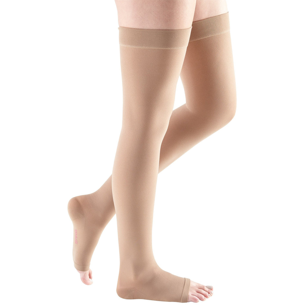 Mediven Plus 30-40 mmHg OPEN TOE Thigh High, Beige