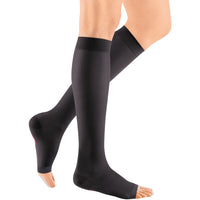 Mediven Sheer & Soft Women's 30-40 mmHg OPEN TOE Knee High, Ebony