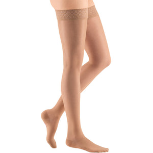 Mediven Sheer & Soft Women's 8-15 mmHg Thigh High, Natural