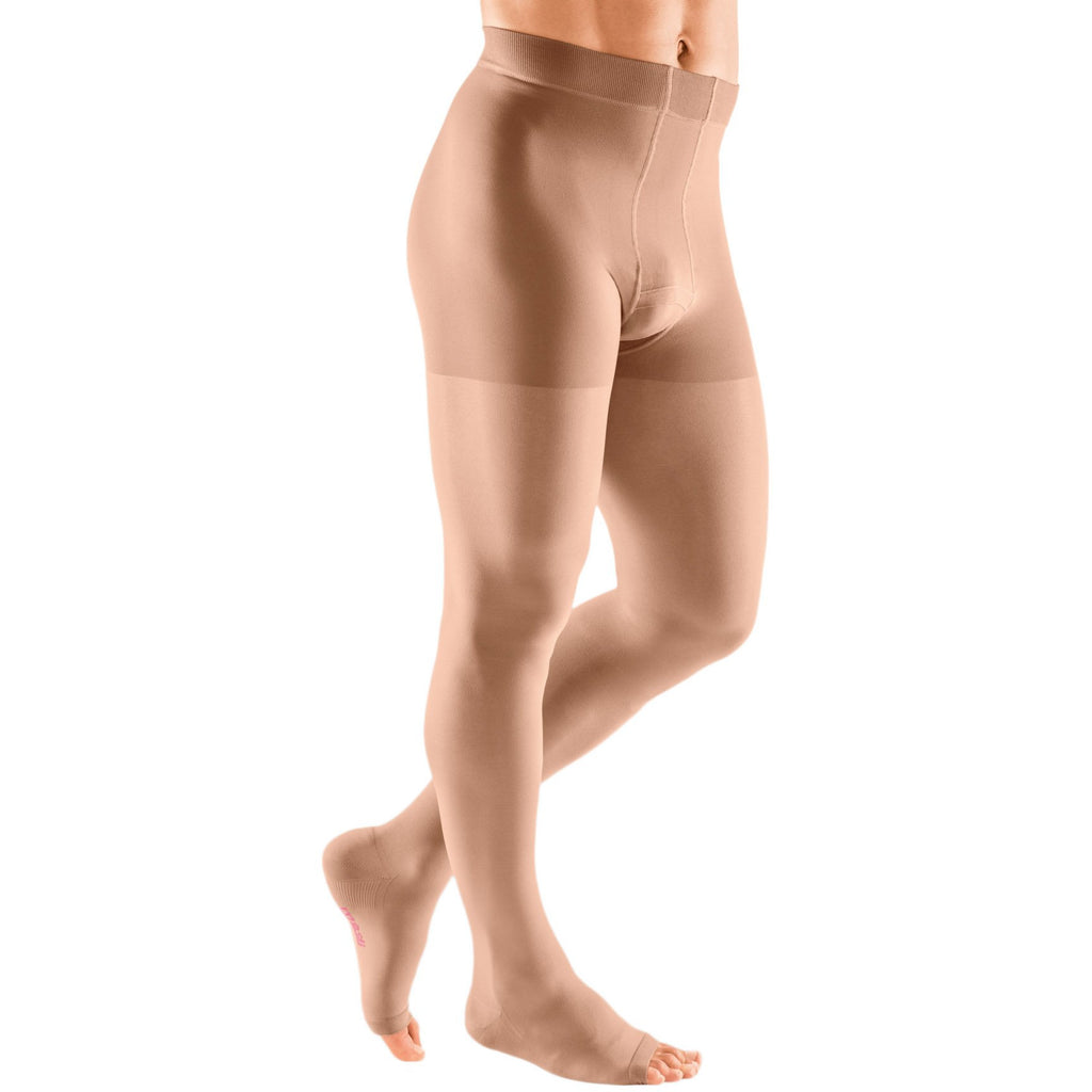 Mediven Plus Men's 30-40 mmHg OPEN TOE Leotard, Beige