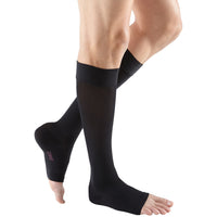 Mediven Plus 30-40 mmHg OPEN TOE Knee High w/ Silicone Top Band, Black