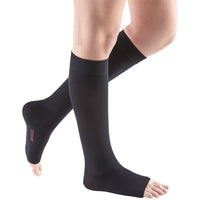 Mediven Comfort 15-20 mmHg OPEN TOE Knee High, Ebony