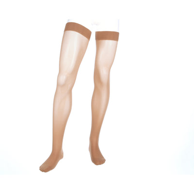 Mediven Assure 20-30 mmHg Thigh High w/ Silicone Top Band, Beige