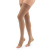 Duomed Advantage 15-20 mmHg OPEN TOE Thigh High, Almond