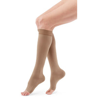 Duomed Advantage 30-40 mmHg OPEN TOE Knee High, Almond