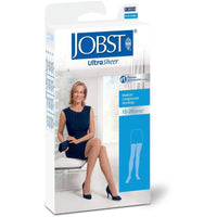Jobst UltraSheer Women's 15-20 mmHg Thigh High w/ Silicone Dotted Top Band